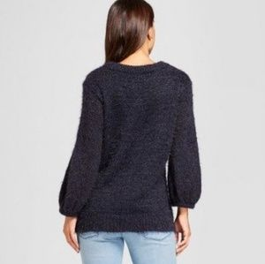 a new day Tops - A New Day ▪️Navy Fuzzy Pullover - SZ L